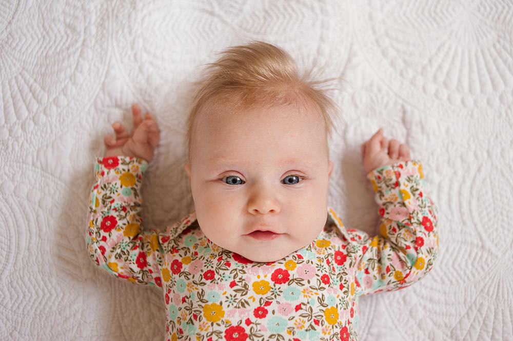 Happy 3 Months Caroline | Child Photographer, Baby Pohotographer, Hampton Roads Photographer, Lifestyle Photographer