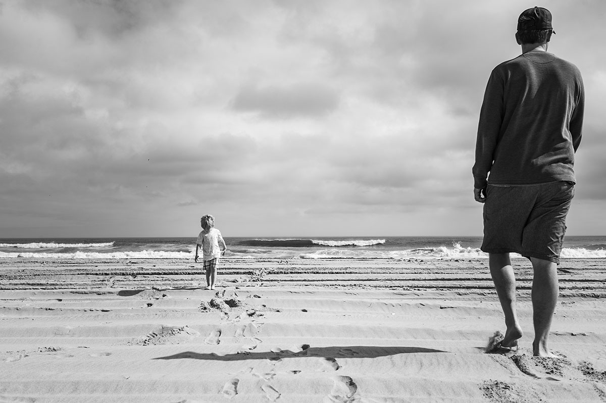 Father and Son at Corolla Beach, NC